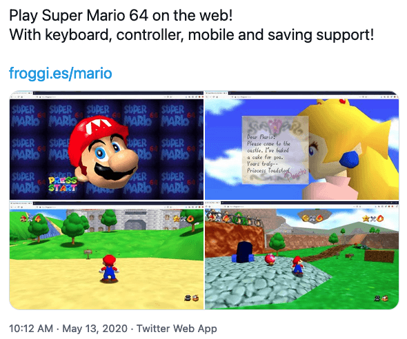 Mario64 on Browser 01